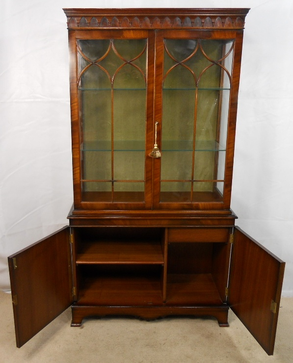 SOLD - Mahogany China Display Cabinet in Antique Georgian Style - Mahogany China Display Cabinet In Antique Georgian Style